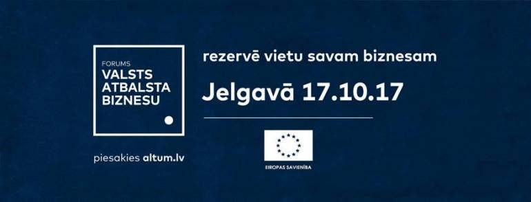 ALTUM aicina apmeklēt forumu Jelgavā 17.10.2017.