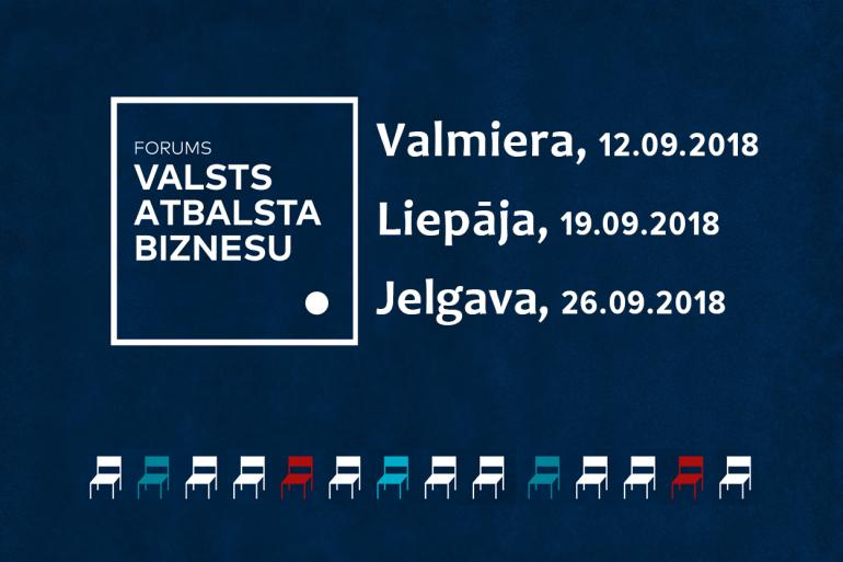 forums VALSTS ATBALSTA BIZNESU Jelgavā 26.09.2018.