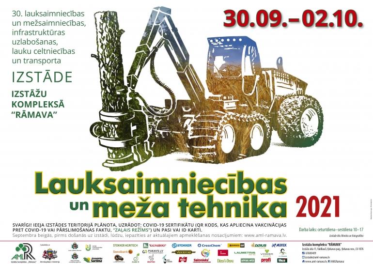 """Izstāde  """"Lauksaimniecības un meža tehnika 2021"""""""