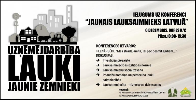 """Sākas pieteikšanās konferencei """"Jaunais lauksaimnieks Latvijā"""""""