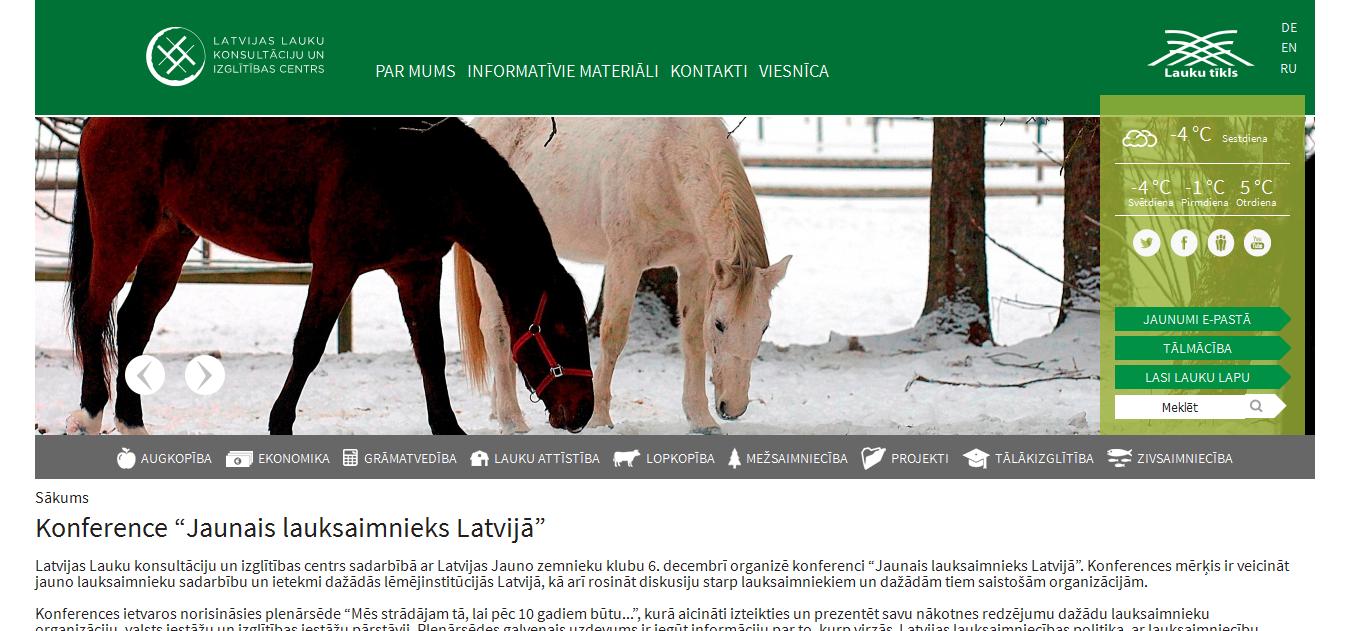 """Konference """"Jaunais lauksaimnieks Latvijā"""""""