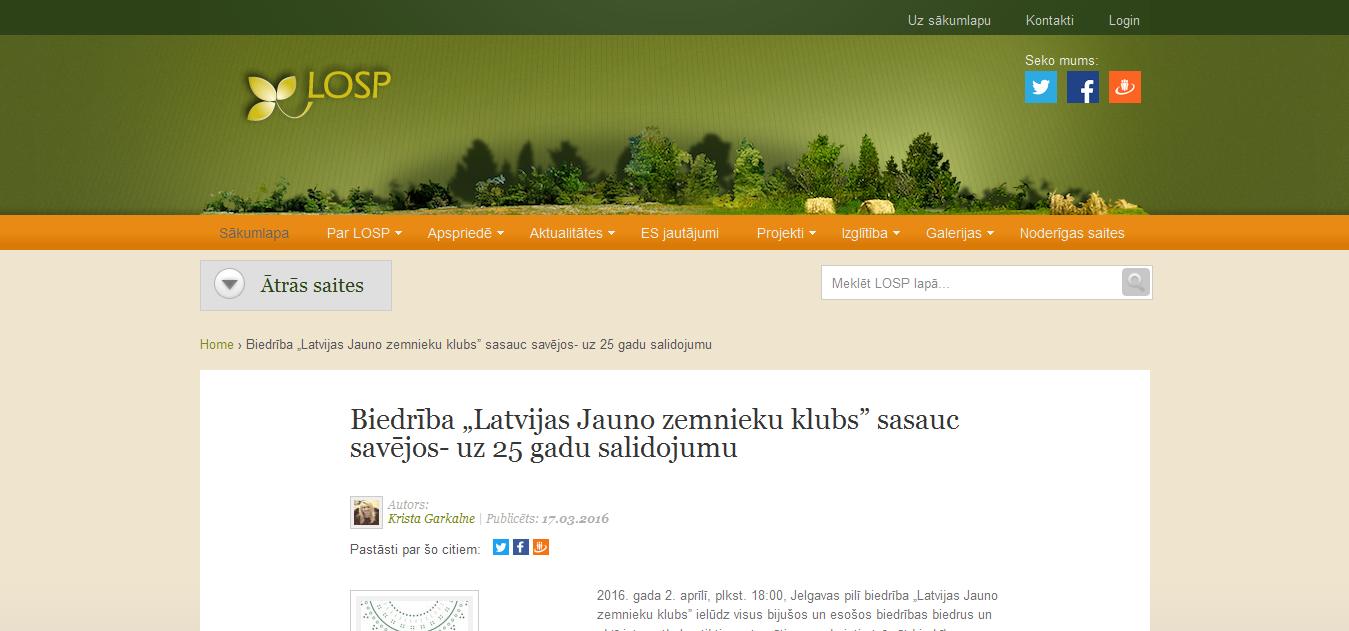 """Biedrība """"Latvijas Jauno zemnieku klubs"""" sasauc savējos- uz 25 gadu salidojumu"""