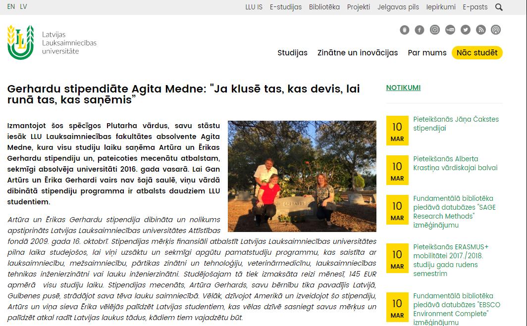 Iedvesmojošs stāsts par uzņēmīgu JZK biedru Agitu Medni